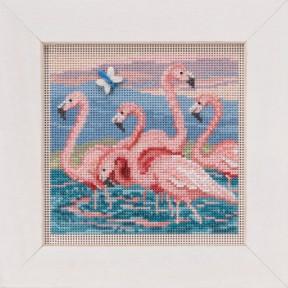 Набор для вышивания Mill Hill Flamingos MH141916