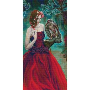 Набор для вышивки крестиком RTO M724 Девушка с ястребом