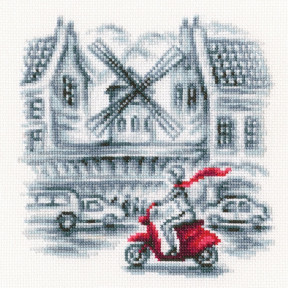Набор для вышивки крестом RTO На улицах Парижа C332