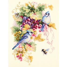 """Набор для вышивки крестом Чудесная игла """"Сойки и виноград"""" 130-022"""
