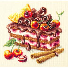 """Набор для вышивки крестом Чудесная игла """"Вишневый торт"""" 120-072"""