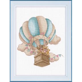 """Набор для вышивки крестом Овен """"На воздушном шаре """" 1222"""