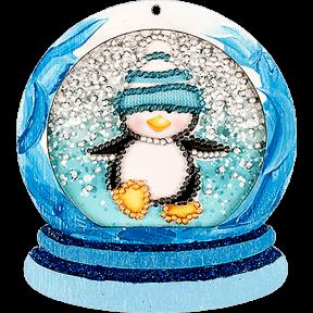 Елочная игрушка для вышивания бисером Волшебная страна FLE-012