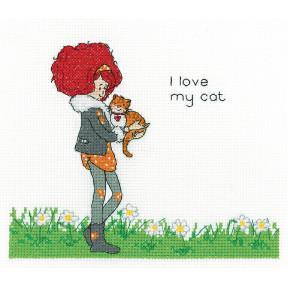 Набор для вышивания крестом Heritage Crafts My Cat H1494