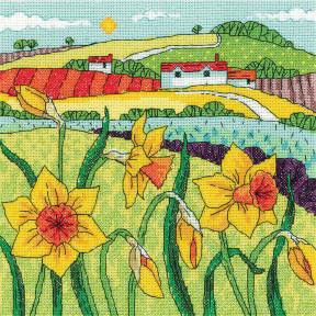 Набор для вышивания крестом Heritage Crafts Daffodil Landscape H1517