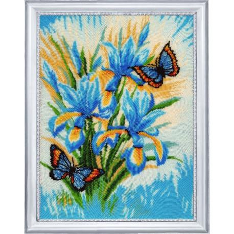 Набор для вышивания бисером Butterfly Небесные цветы 125