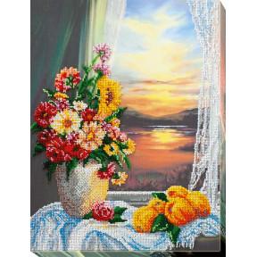 Набор для вышивки бисером на холсте Абрис Арт «Натюрморт с айвой» АВ-703