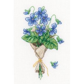Набор для вышивки крестиком RTO Лесные фиалки C326
