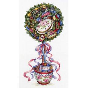 Набор для вышивки крестом МП Студия Топиарий радости НВ-691
