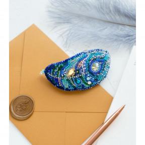 Набор для вышивки бисером на холсте Абрис Арт «Заколка Взмах» ADH-002