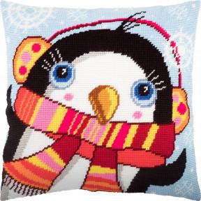 Набор для вышивки подушки Чарівниця Пингвин  V-253