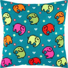 Набор для вышивки подушки Чарівниця Слоны  V-256