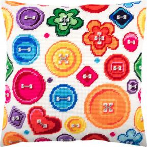 Набор для вышивки подушки Чарівниця Пуговицы V-259