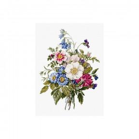 Набор для вышивки крестом Luca-S Букет летних цветов BU4004