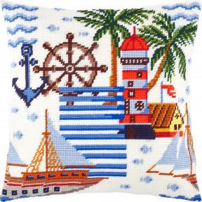 Набор для вышивки подушки Чарівниця Морские приключения V-282