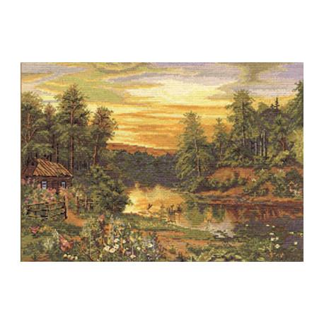Набор для вышивки крестом Panna ПС-1088 Летний вечер фото
