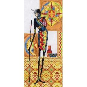 Набор для вышивки крестом Panna  НМ-0741 Африка.Материнство