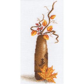 Набор для вышивки крестом Panna В-0496 Желтый листок