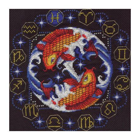 Набор для вышивки крестом Panna ЗН-0933 Рыбы фото