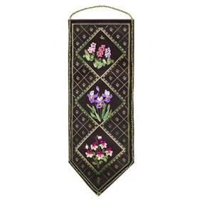 Набор для вышивки лентами Panna Ц-0723 Цветочный семплер 1