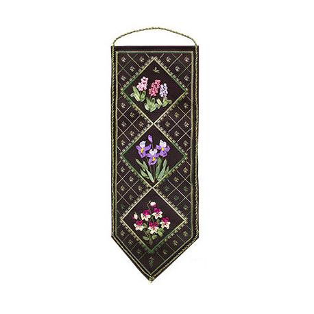 Набор для вышивки лентами Panna Ц-0723 Цветочный семплер 1 фото