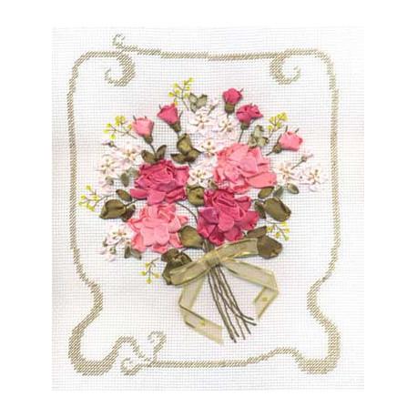 Набор для вышивки лентами Panna Ц-0776 Признание в любви фото