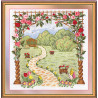 Набор для вышивки лентами Panna Ц-0901 Любимый сад фото