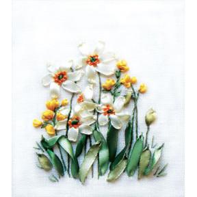 Набор для вышивки лентами Panna Ц-0941 Нарциссы и лютики