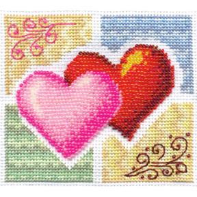 Набор для вышивки крестом Panna Л-0827 Вместе-навсегда! фото