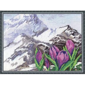 Набор для вышивки крестом Panna Ц-0952 Альпийские цветы фото