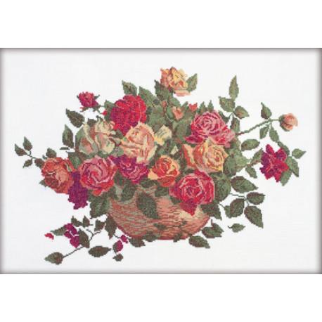 Набор для вышивки крестом RTO R190 Розы фото