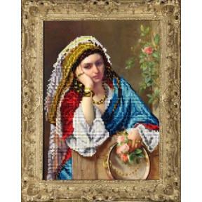 Набор для вышивания бисером КиТ 40415 Девушка в платке фото