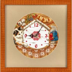 Набор для вышивки крестом Panna Ч-1393 Часы.Домовенок
