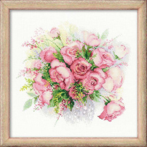Набор для вышивки крестом Риолис 1335 Акварельные розы