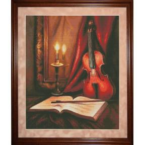 Набор для вышивки крестом Юнона 0702 Соло для скрипки фото