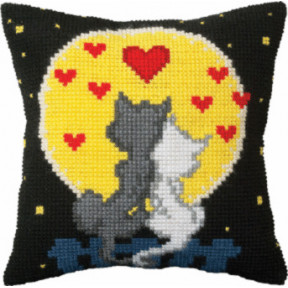 Набор для вышивки подушки Чарівна Мить РТ-166 Влюбленные коты