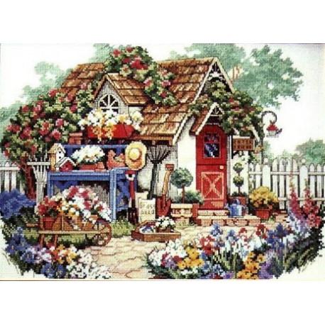 Набор для вышивания крестом Classic Design 4322 Садовый Домик