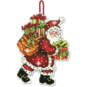 Набор для вышивания Dimensions 70-08912 Santa with Bag Ornament