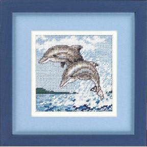 Набор для вышивания Dimensions 17046 Dance of the Dolphins фото