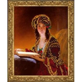 Набор для вышивания бисером КиТ 70815 Девушка с книгой фото
