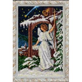 Набор для вышивания бисером КиТ 80915 Рождественский ангел фото