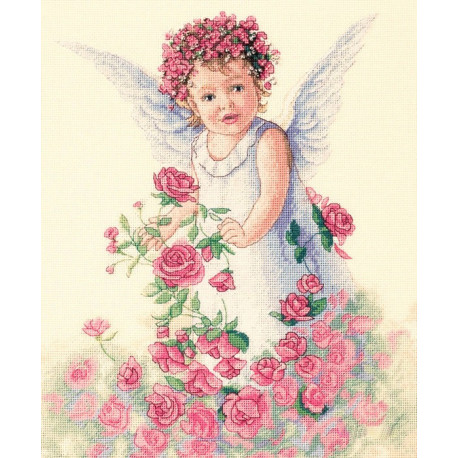 Набор для вышивания крестом Classic Design 4327 Ангел Роз фото