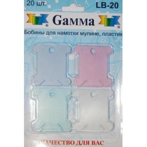 Бобины пластиковые для мулине Гамма LB-20 фото