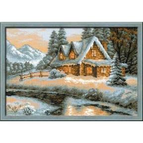 Набор для вышивки крестом Риолис 1080 Загородный Пейзаж.Зима