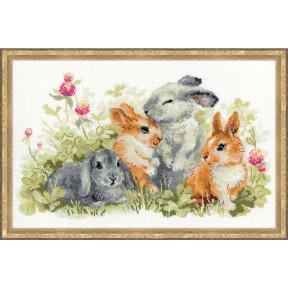Набор для вышивки крестом Риолис 1416 Забавные крольчата