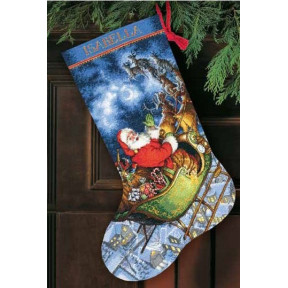 Набор для вышивания сапожка Dimensions 70-08923 Santa's Flight