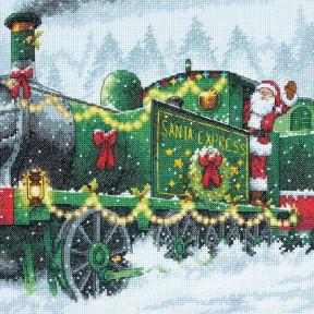Набор для вышивания Dimensions 70-08918 Santa Express фото