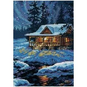 Набор для вышивания крестом Dimensions 65007 Moonlit Cabin