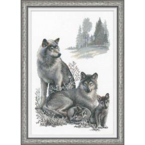 Набор для вышивки крестом Риолис 100/021 Волки фото