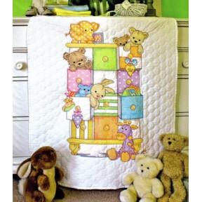 Набор для вышивания детского одеяла 73537 Baby drawers Quilt